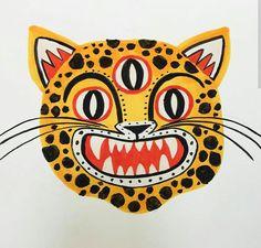drawings - 3 Eyed Leopard Tshirt by Colin Walsh Illustrations And Posters, Art And Illustration, Art Pop, Desenho Tattoo, Grafik Design, Cat Art, Art Inspo, Illustrators, Design Art