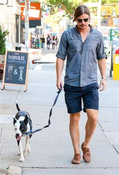Josh Hartnett looked like he had the blues. See more street style on Wonderwall: http://on-msn.com/1vNO42S