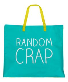Another great find on #zulily! 'Random Crap' Tote Bag #zulilyfinds