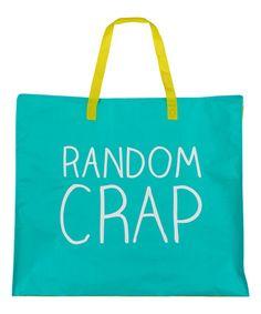 Another great find on #zulily! 'Random Crap' Tote Bag #zulilyfinds
