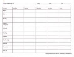 <b>sheet</b> for those who like that system better: <b>Assignment</b> <b>Sheet</b> <b>Weekly</b> ...