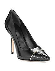 RACHEL ROY Alessa Pumps #heels #snakeskin #pumps #black #style