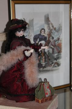 "hand made dress blog ""trotinette-et-coccinelle""antique antique doll automate biscuit"