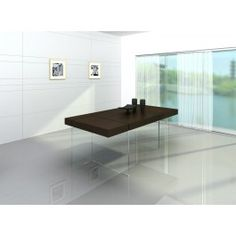 Aura Modern Floating Tobacco Dining Table - 850.0000