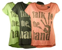 Talk To The Hand! Printet t-shirt - Online hos Tankestrejf.dk