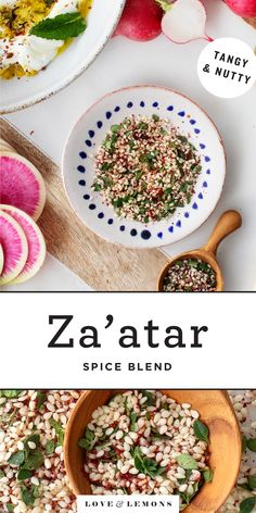 Za'atar - an herby, tangy, nutty Middle Eastern spice blend - will take your cooking to a whole new level! It's healthy, flavorful, and so easy to make. Sprinkle it over vegetables, breads, dips, and more! | Love and Lemons #zaatar #spices #healthyrecipes #recipe Vegetarian Recipes Dinner, Easy Dinner Recipes, Appetizer Recipes, Healthy Recipes, Vegetarian Protein, Corn Recipes, Delicious Recipes, Spice Blends, Spice Mixes