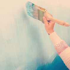 Instructions on how to paint an ombre wall at home from Westelm