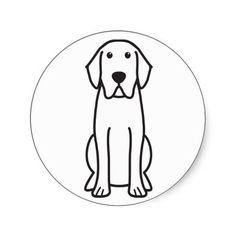 Labrador Retriever Dog Cartoon Stickers