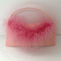 Mini sac de fille rose à plume : Etuis, mini sacs par creation-valerie-castets