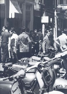 """Mod's scooters, Carnaby Street"", London 1964"