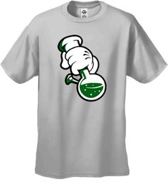 Cartoon Hands Bong Rip Mens T-Shirt!-- Click to Enlarge--