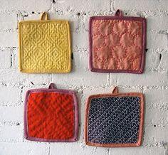 How-To: Sashiko Sampler Potholders #embroidery #sashiko #sewing