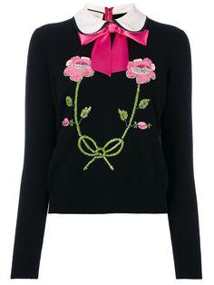 Gucci Pullover mit Blumenstickerei
