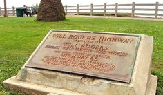Route 66 - Pacific Pallisades Park Will Rogers Highway Plague - Second stop