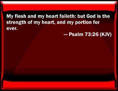 Image result for psalm 73 26 kjv