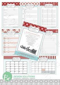2012 Christmas Planner Set - free printable