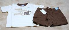 NWT BOYS Gymboree Adjutable Waist Shorts with matching pullover Shirt - Size 5 #Gymboree #Everyday