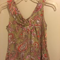 Michael Kors top Michael Kors paisley top. Size small/p material is cotton and modal. In great preowned shape. Michael Kors Tops Tank Tops