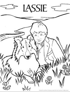 lassie lassie einstein colouring page