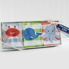 Deep Sea Tee's Set of 3 T-shirts for Baby