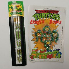 vtg TMNT Turtle Eraser Dudes set Pencils MOC school supplies 90 s Ninja Turtles Ninja Turtles Movie, Tmnt Turtles, Ninja Turtles Action Figures, Teenage Mutant Ninja Turtles, Binder Folder, Fish Face, 90s Toys, Instagram Shop, Etsy Seller