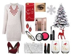 """""""Red and White xmas #2"""" by mikage44 on Polyvore featuring Kenzo, Michael Antonio, Casetify, Alexis Bittar, Charlotte Russe, Paula Dorf and NARS Cosmetics"""