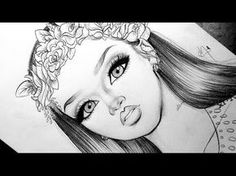 ♡ Drawing Rihanna in Semirealism ♡ - YouTube