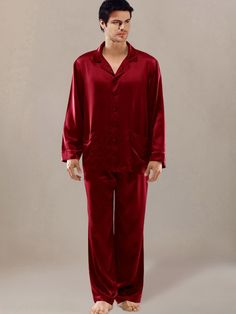 a28325967a Silk Nightwear  menssilkpajamas Black Silk Pajamas