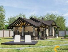 Bungalow House Design, Home Technology, Diy Garden Projects, Gazebo, Outdoor Structures, Cabin, House Styles, Home Decor, Gardening