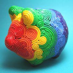Fimo Piggy Bank