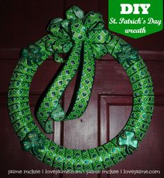 Complete project: St. Patrick's Day wreath #DIY #12projects12months