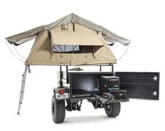 Smittybilt thought of everything with their new Scout Trailer. Starting with a fully boxed galvanized steel frame which is then powder coated with the under carriage featuring heavy duty undercoating. Camping Trailer Diy, Off Road Camper Trailer, Jeep Camping, Trailer Build, Camper Trailers, Life Trailer, Expedition Trailer, Overland Trailer, Tent Weights