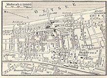 Plan des Seebads Zoppot um 1910