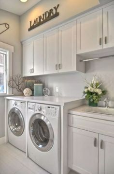 Below are the Small Laundry Room Design Ideas. This post about Small Laundry Room Design Ideas was posted under the … Laundry Room Cabinets, Basement Laundry, Farmhouse Laundry Room, Small Laundry Rooms, Laundry Room Organization, Laundry Storage, Laundry Room Design, Diy Cabinets, Laundry Cupboard