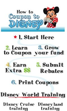 This lady uses coupons to save up for a trip to Disney. I just like her website b/c she lists all the amazing deals you can get with coupons. She has a freebie list and lists of things you can get at target for under a buck (and a walmart one too) Also a crazy list of lots of dining deals.