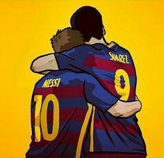 L. Messi and Luis Suárez / Barcelona!