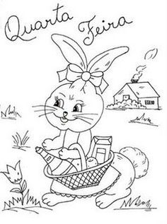 Coloring For Kids, Coloring Books, Coloring Pages, Embroidery Patterns, Hand Embroidery, Easter Pictures, China Painting, Fabric Painting, Vintage Patterns
