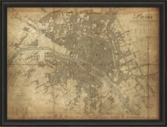 Plan de Paris Print | Ballard Designs (Crazy expensive but I like the idea)