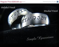 20% OFF - Personalized Mother's Ring - Brushed or Polished Finish - 8mm Width on Etsy, $24.00