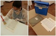 O acervo do artista #HermelindoFiaminghi está em processo de higienização aqui no Instituto De Arte Contemporânea. Na foto abaixo, nossa voluntária passa a trincha para retirar o pó dos documentos textuais que serão acondicionados em jaquetas máximo ofício. #iac #institutodeartecontemporânea #iacbrasil #vilamariana #acervo #fiaminghi #artista #novoacervo #sp #sãopaulo #brasil #belasartes #timebelasartes #equipe #voluntário #arte #processo #ndp #documento #documentostextuais #jaquetas…