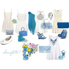 smurfette, created by rachelfrog on Polyvore