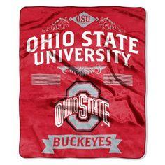 Ohio State Buckeyes Blanket 50x60 Raschel Label Design Z157-8791821932
