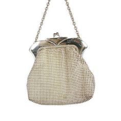 Whiting & Davis Silver Mesh Purse by TheFashionDen on Etsy
