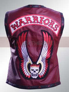 "The Warriors Maroon Leather Vest worn by Celebrity James Remar in the movie ""The Warriors. Buy it now in $149 from Leatherobe"