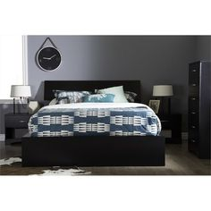 South Shore Furniture, Majestic Ottoman Queen-Size Storage Bed Frame in Pure Black, 3107222 at The Home Depot - Mobile Queen Size Storage Bed, Bed Frame With Storage, Ottoman Storage Bed, Bed Storage, Soho, Sports Bedding, Modern Ottoman, Queen Platform Bed, Kids Bedroom Furniture