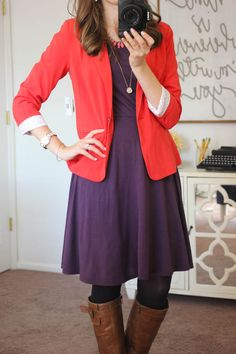 Rebekah Blazer from Kensie - like this blazer!  Not sure about the red, but I think I like it.