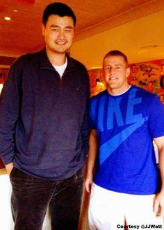 Yao Ming & JJ Watt