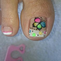 Pedicure Nail Art, Pedicure Designs, Toe Nail Designs, Nail Polish Designs, Toe Nail Art, Toe Nails, Purple And Pink Nails, Butterfly Makeup, Nail Effects