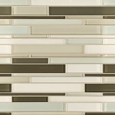 Artistic Tile | Opera Glass Collection; Serenade Gloss and Satin Mix Stilato Linear Mosaic