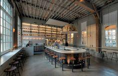 One cool design. Love this space. Lundberg Design Hard Water Restaurant | Remodelista